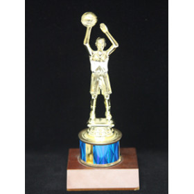 "Sports Figure on Wood Base - 1"" Riser"